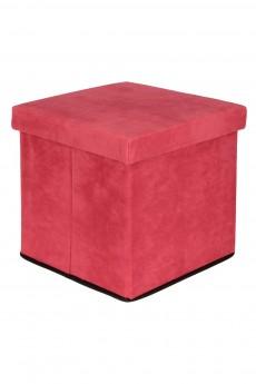 Пуф складной с ящиком для хранения «Коралловый»
