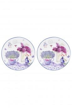 Набор десертных круглых тарелок «Лаванда»