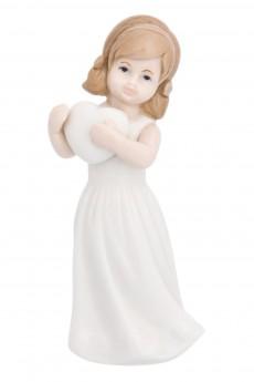 Фигурка декоративная «Девочка в белом платье с сердцем»