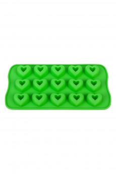 Форма силиконовая для шоколадных изделий и льда «Сердечки»