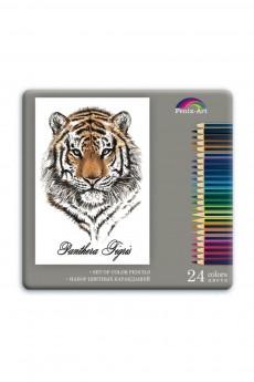 Набор цветных карандашей 24 шт «ТИГР»