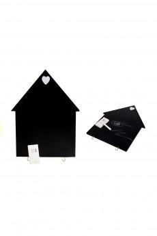 Доска грифельная с держателем для журналов, 2 крючками, мелом «Дом»