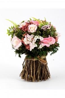 Композиция цветочная «Розовая нежность»