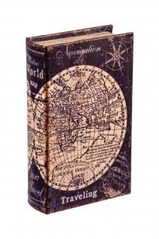 Шкатулка-фолиант «Карта мира»