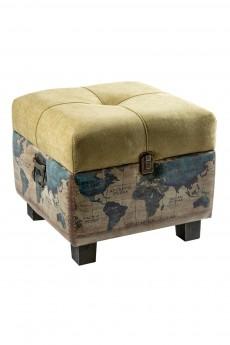 Пуф с местом для хранения «Карта мира»