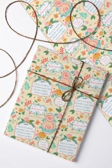 Бумага упаковочная с вашим текстом «С праздником весны!»