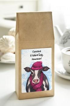 Чай с Вашим именем «Корова в шарфике»