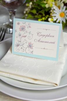 Банкетная карточка «Цветочный орнамент»