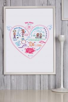 Постер в раме с Вашим текстом «История одной любви»