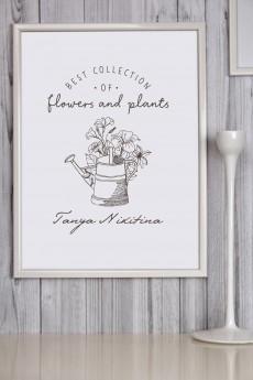 Постер в раме с Вашим именем «Best collection»