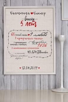 Постер в раме с Вашим текстом «Метрика любви2»
