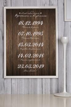 Постер в раме с Вашим текстом «Наши даты»