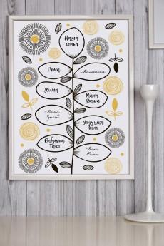Постер в раме с Вашим текстом «Семейная ветвь»