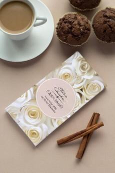 Шоколад с Вашим именем «Flowers»