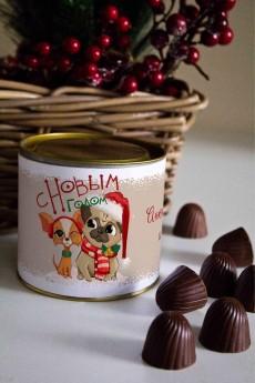 Банка шоколадных конфет с Вашим именем «Парочка»