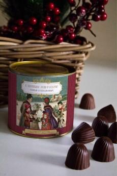 Банка шоколадных конфет с Вашим именем «Семейный праздник»