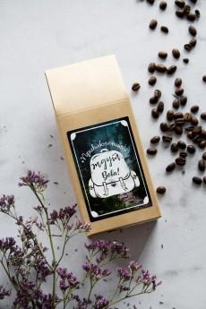 Кофе с Вашим текстом «Приключения ждут»