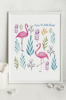 Постер в раме «Фламинго»