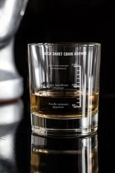 Стакан для виски с именной гравировкой «Шкала отличного настроения»