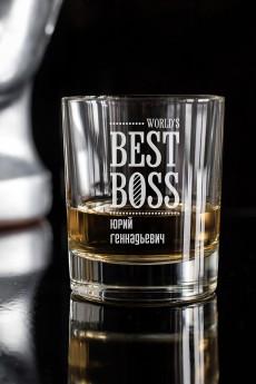 Стакан для виски с именной гравировкой «Best Boss»