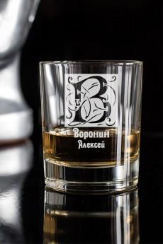 Стакан для виски с именной гравировкой «Фамильный герб»