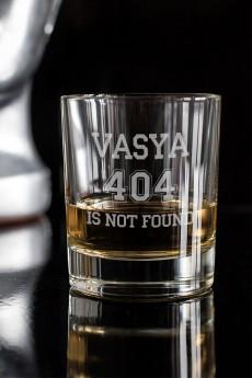 Стакан для виски с именной гравировкой «Not Found»