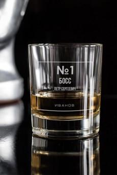 Стакан для виски с вашим текстом «Номер один»