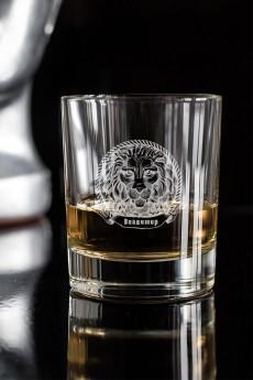 Стакан для виски с вашим текстом «Лев»