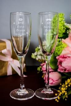 Набор бокалов для шампанского с вашим текстом «Mr & Mrs X»