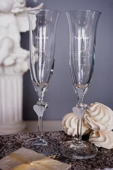 Набор свадебных бокалов с вашим текстом «Вместе навсегда»