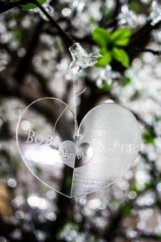 Декоративная подвеска с вашим текстом «Сердце»