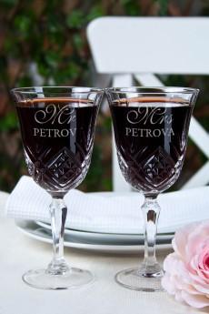 Набор бокалов с именной гравировкой «Mr & Mrs Smith»