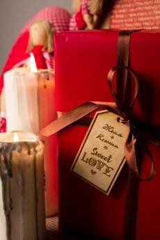 Деревянная бирка с персональной гравировкой «Sweet love»