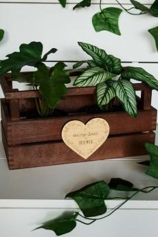 Деревянная бирка с Вашим текстом «Равно любовь»