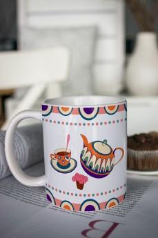 Кружка с вашим текстом «Чаепитие»