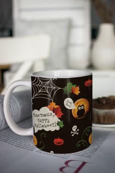 Кружка с вашим текстом «к Хэллоуину»