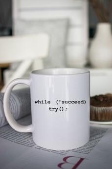 Кружка с вашим текстом «Путь к успеху»