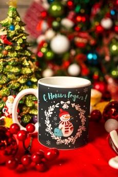 Кружка новогодняя с вашим текстом «Чудесное время»