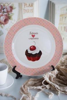 Тарелка декоративная с вашим текстом «Сладкоежка»