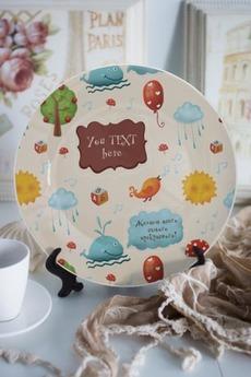 Тарелка декоративная с вашим текстом «Ребенку»
