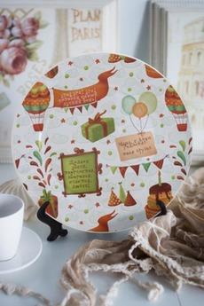 Тарелка декоративная с вашим текстом «С днем Рождения!»