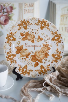 Тарелка декоративная с вашим текстом «Осенние мотивы»