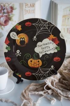 Тарелка декоративная с вашим текстом «к Хэллоуину»