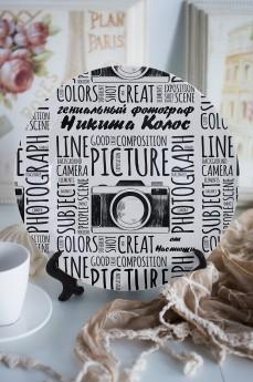 Тарелка декоративная с вашим текстом «Фотографу»