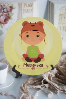 Тарелка декоративная с вашим текстом «Маленький модник»