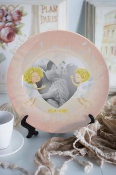 Тарелка декоративная с вашим текстом «Нежность»