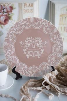 Тарелка декоративная с вашим текстом «Кружева»