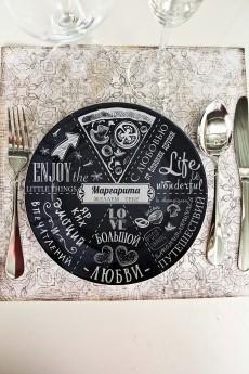 Тарелка декоративная с вашим текстом «Гурмано итальяно»