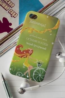 Чехол для iphone 4/4S с вашим текстом «Велосипед»
