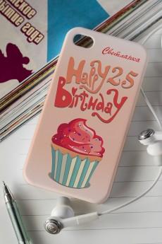 Чехол для iphone 4/4S с вашим текстом «Happy Birthday!»